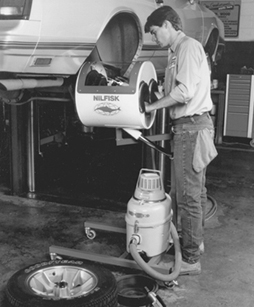 Figure 2. Portable Enclosure For Preventing Exposure To Asbestos Dust From  Brake Drums It Is Equipped With An Enclosed Compressed Air Gun With A  Cotton ...